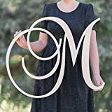SALE 12-36 inch tall Single Letter Curved Font Wooden Monogram Vine Room Decor Nursery Decor Wooden...