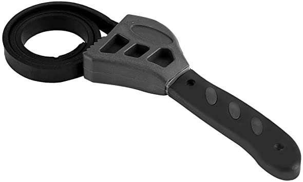 500mm Multitool Universal Wrench Black Rubber Strap Adjustable Spanner For A1N9