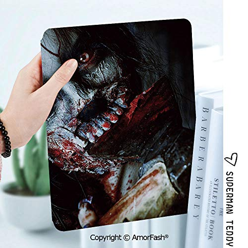 Case for Samsung Galaxy Tab A 8.0 2017 Release for T380/T385,Auto Wake/Sleep,Zombie Decor Scary Dead Woman with Bloody Axe Evil Fantasy Gothic Mystery Halloween Picture]()