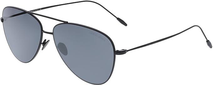 3855f28a38ed Amazon.com  Giorgio Armani Mens Sunglasses Black Matte Grey Metal ...