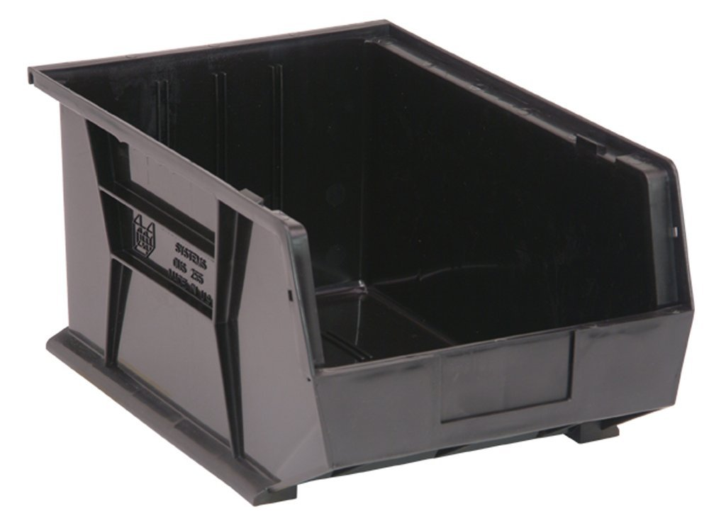 Quantum Storage Systems Stack and Hang Bin, 16L X 11W, Blk by Quantum Storage Systems