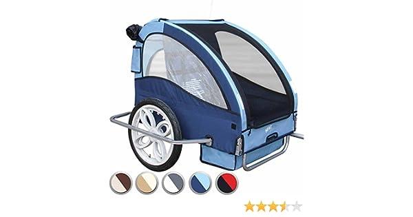 Infantastic - FAH17/2-Bijou Blue - Remolque de Bicicleta para 2 niños – Bijou Blue Elegir: Amazon.es: Deportes y aire libre