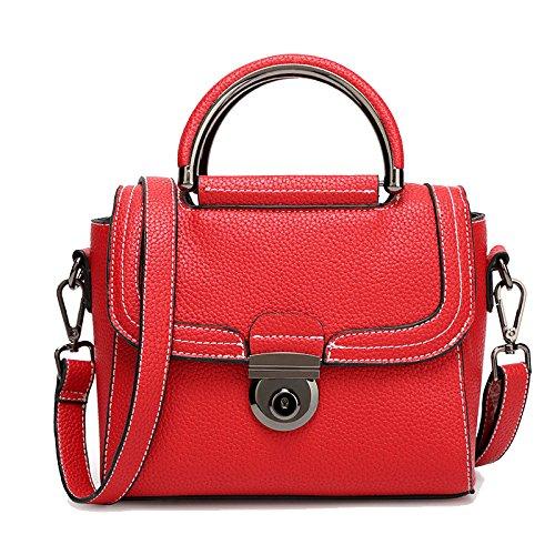 Ajlbt Trend Litchi Pattern Bag Korean Version Of The Trend Women Shoulder Messenger Bag Network