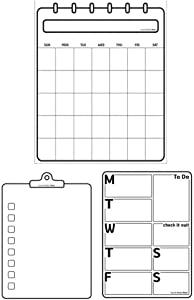 Finns Dry Erase Self-Adhesive and Re-Adhesive Memo Board Sheet, Restickable Without Any Residue (Office Pack)