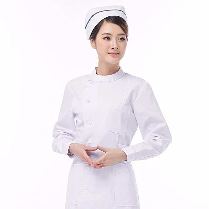 Xuanku Xinyi Belleza Enfermera Cuello Cintura Vestido Manga ...