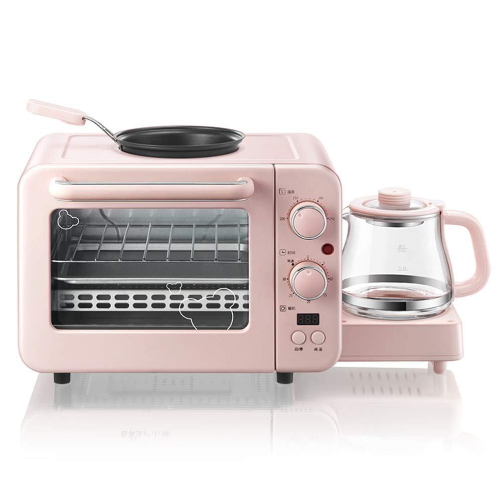 Atten 1400W Hot Convection Oven, Toast, Bake, Pizza, Rotisserie, 8L Countertop Three-In-One Oven Breakfast Machine