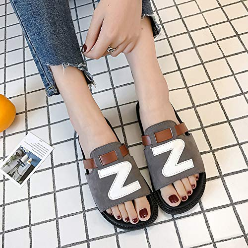 Heel LJXY Anti Women's Flat House KJJDE Open Sandal Gray Slipper Toe Home Bath Slip Prime Indoor 08031 wqqXx7SEnU