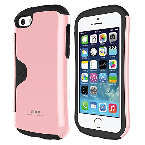 Iphone 6 (4.7) Case Phonefoam® Golf 2 Series [Dual Layer] [Heavy Drop Protection] [Air Protection] Credit Card Slot Holder and Kickstand Wallet Case - Retail Packing for Apple Iphone 6 (Pink)