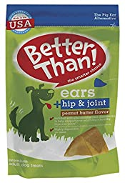 Better Than Ears Premium Dog Treats, Peanut Butter Flavor, 36-Count per Pouch