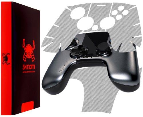 Skinomi Ouya Controller Silver Carbon Fiber Full Body, TechSkin Silver Carbon Fiber Skin for Ouya Controller