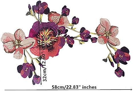 Aplique con forma de flor tama/ño grande ideal para decorar prendas de ropa o para hacer manualidades rosa para coser