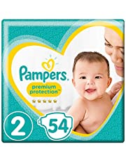 Pampers Premium Protection, Size 2 Newborn (4kg-8kg), 54 Nappies