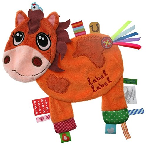 Henry Horse Silky Comfort Mini Grasp and Soothe Taggie Blanket ()