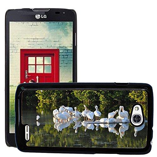 Just Phone Cases Slim Protector Hard Shell Cover Case // M00128234 Sanibel Island Pelicans Florida Birds // LG Optimus L90 D415 (Lg Optimus L90 Florida Case)