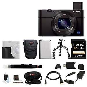 Sony DSC-RX100M III Cyber-shot Digital Still Camera (Silver Bundle)