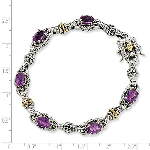 ICE CARATS 925 Sterling Silver 14k Purple Amethyst Bracelet 7.25 Inch Gemstone Fine Jewelry Ideal Mothers Day Gifts For Mom Women Gift Set From Heart by ICE CARATS (Image #5)