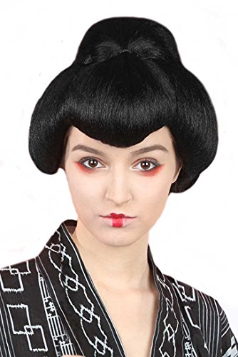 Banana Costumes Womens Geisha Wig Black