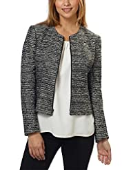 Anne Klein Womens Tweed Zip Front Jacket