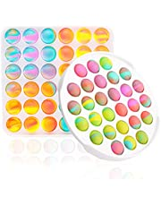 TIGARI Pop Bubble Sensory Fidget Toys Poppits Stitch Pop up It Figets Toys Packed Pop on It for Birthday Party Tie Dye Pop on It Pop up It 2 Pack Circle Pop on It Square Stress Reliever for kids Adult