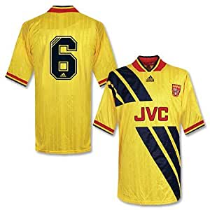 93-94 Arsenal Away Players Jersey + No.6 - XL