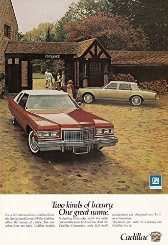1977 Cadillac: Two Kinds of Luxury, Seville, Coupe deVille, Cadillac Print Ad (Seville Coupe)