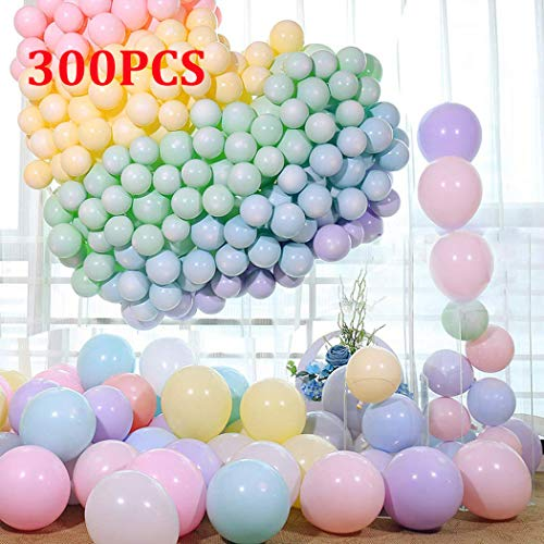Party Balloons 10 Inches Macaron Candy Colored Latex Balloons Set (300 PCS) for Birthday Wedding Bog Bachelorette Christmas Baby Shower Party Decorations- Multicolor ()