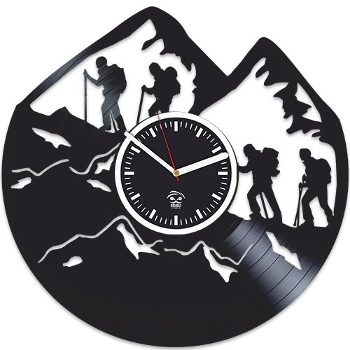 Mountain Clock, Climbers Vinyl Wall Clock, Best Gift For Climb Man, Vinyl Record, Kovides, Valentines Day Gift, Silent Mechanism, Wall Clock Modern, Climbing Birthday Gift For Boy