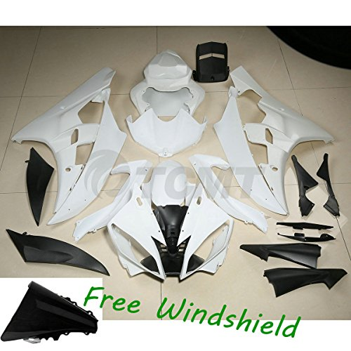 TCMT Unpainted ABS Plastic Fairing Body For YAMAHA YZF R6 YZF-R6 2006 2007 (Fairing Plastic Body)