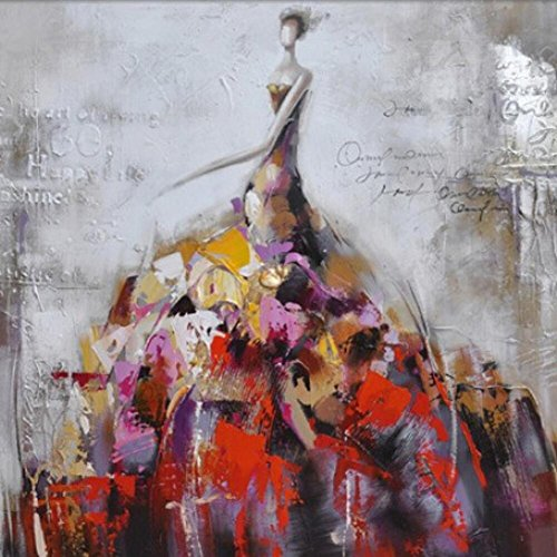 DMMSSPure hand-painted oil painting abstract woman skirt pictures