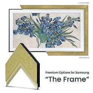 """Deco TV Frames - Contemporary Gold Frame Custom Built for Any Size Samsung The Frame TV (50"""")"""
