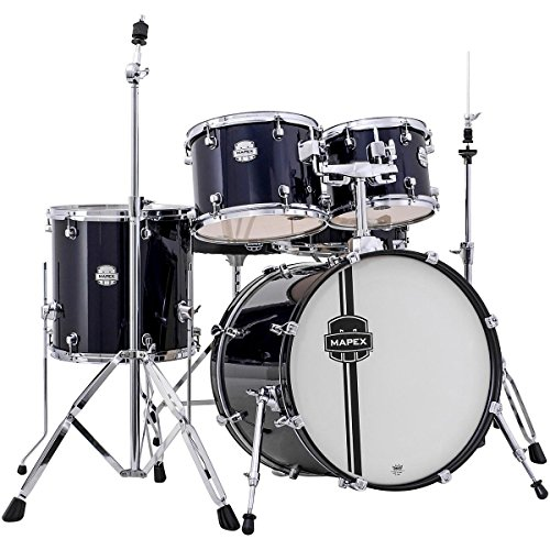mapex-vr5044tybzz-voyager-jazz-5-piece-drum-set-with-cymbals-royal-blue