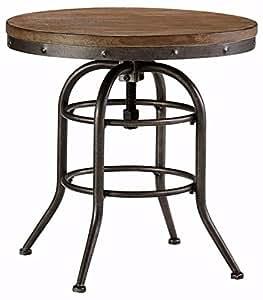 Ashley Furniture Signature Design - Vennilux End Table - Vintage Casual - Round - Grayish Brown