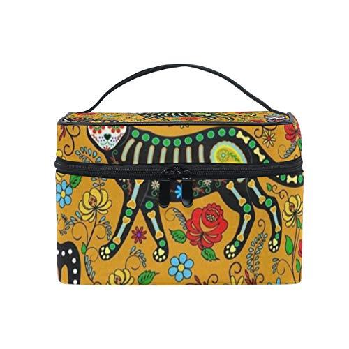 Makeup Bag Halloween Face Panda Cat Cosmetic Bag Portable Large Toiletry Bag for Women/Girls Travel -