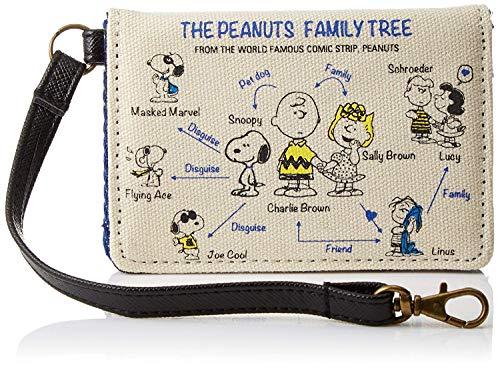(Japanese Peanuts Snoopy Canvas Credit Card Bi-fold Holder Wallet [ SPN-025 ])
