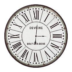 Yosemite Home Decor CLKB1404172 Circular Wall Clock, 48