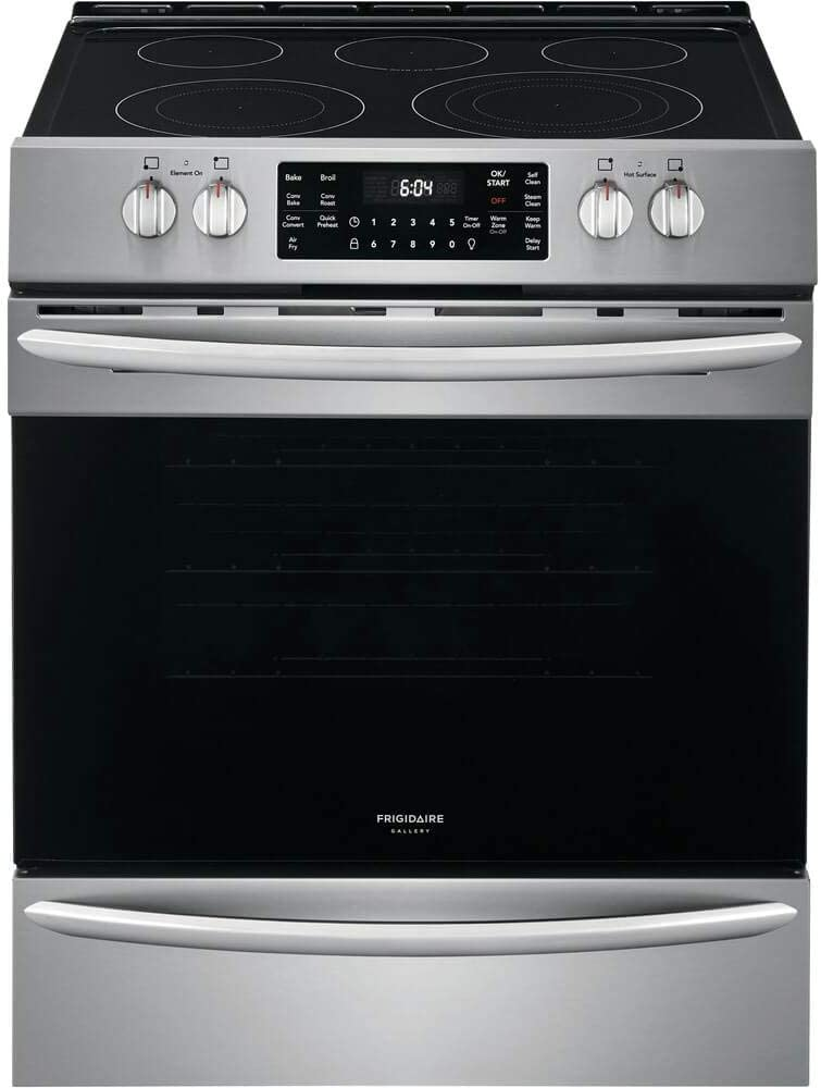 "Frigidaire FGEH3047VF Gallery Series 30"" Electric Range with 5 Elements, 5.4 Cubic ft. Capacity Convection Oven, in Stainless Steel"