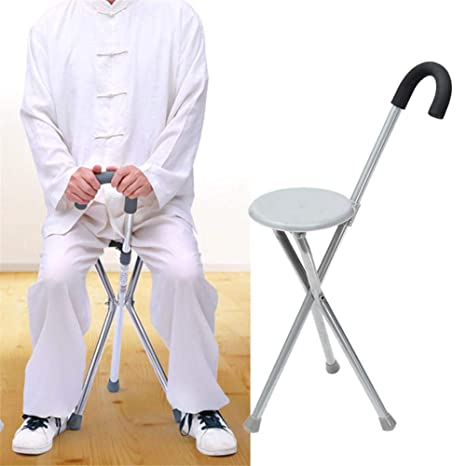 Remarkable Keptfeet Folding Lightweight Adjustable Height Cane Seat Portable Walking Chair Cane Stool Elderly Folding Tripod Folding Disability Medical Aid Inzonedesignstudio Interior Chair Design Inzonedesignstudiocom