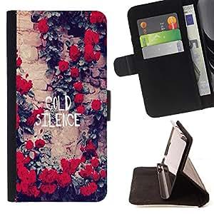 King Case - FOR Samsung Galaxy S4 IV I9500 - cold silence - Prima caja de la PU billetera de cuero con ranuras para tarjetas, efectivo Compartimiento desmontable y correa para la mu?eca