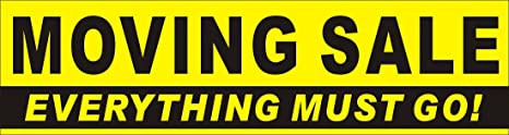 amazon com 2ftx7ft moving sale everything must go banner sign