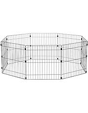 Faites des économies sur Iris Ohyama, parc pour chien / cage d'extérieur /  enclos / chenil - Wire Pet Circle - 24 pouces, epoxy, noir, 1,5m², 60 x 60 cm et plus encore