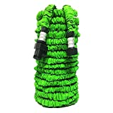 Expandable Lawn Garden Hose,GenLed Strongest Expandable Garden Hoses,Super Lightweight Automatically Expands and Contracts,Car Washing Hose for Watering Plants,Auto Wash,Cleaning Patio House (75ft)