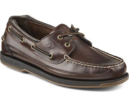 SPERRY Men's Charter 2-Eye W/ASV Boat Shoe, Amaretto, 11.5 M US