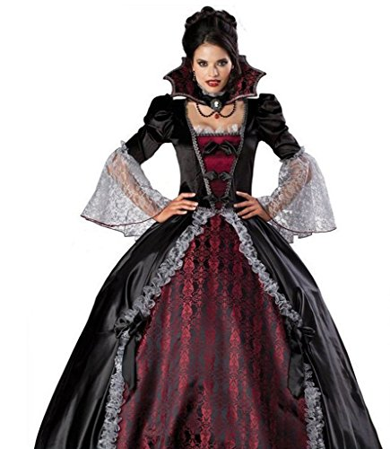 [BADI NA Elegant Cosplay Costumes Women's Princess Vampiress Of Versailles Dre...] (Adult Vintage Witch Costumes)