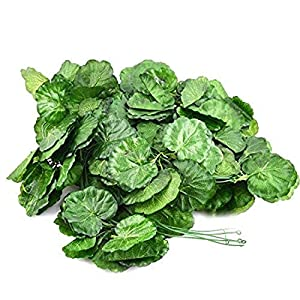 MARJON FlowersPlastic Home Begonia Shape Wall Hanging Artificial Ivy Vine 5pcs Green 36