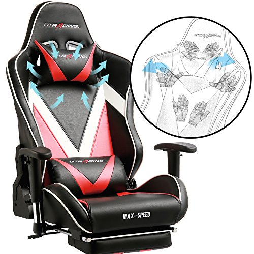GT Racing Ergonomic Gaming Chair. Top of the line for comfortable gaming.
