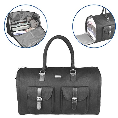 Two-In-One Convertible Travel Garment Bag Carry On Suit Bag, Easily Transforms Into a Sports Duffel by GYSSIEN (Image #3)