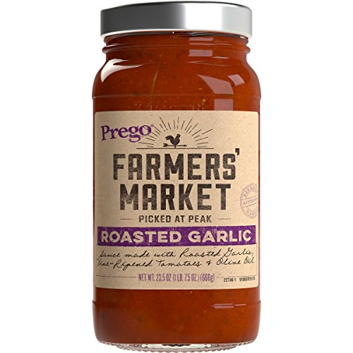 (Prego Farmers' Market Sauce, Roasted Garlic, 23.5 Ounce (Pack of 6))