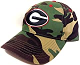 UNIVERSITY OF GEORGIA BULLDOGS CAMO HAT CAP CAMOUFLAGE ADJUSTABLE ARMY WOODLAND