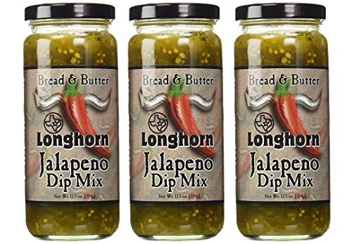 Texas Longhorn Bread & Butter Jalapeño Dip (3 JAR PACK)