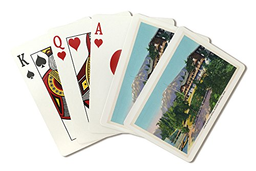 - Glacier National Park, Montana - Exterior View of the Lake McDonald Hotel (Playing Card Deck - 52 Card Poker Size with Jokers)